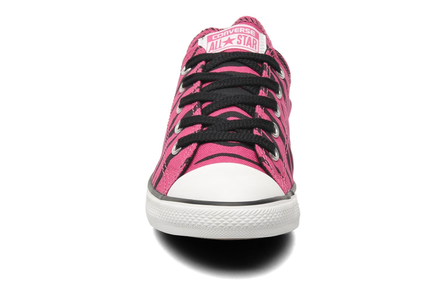Baskets Converse All Star Dainty Zebra Ox W Rose vue portées chaussures