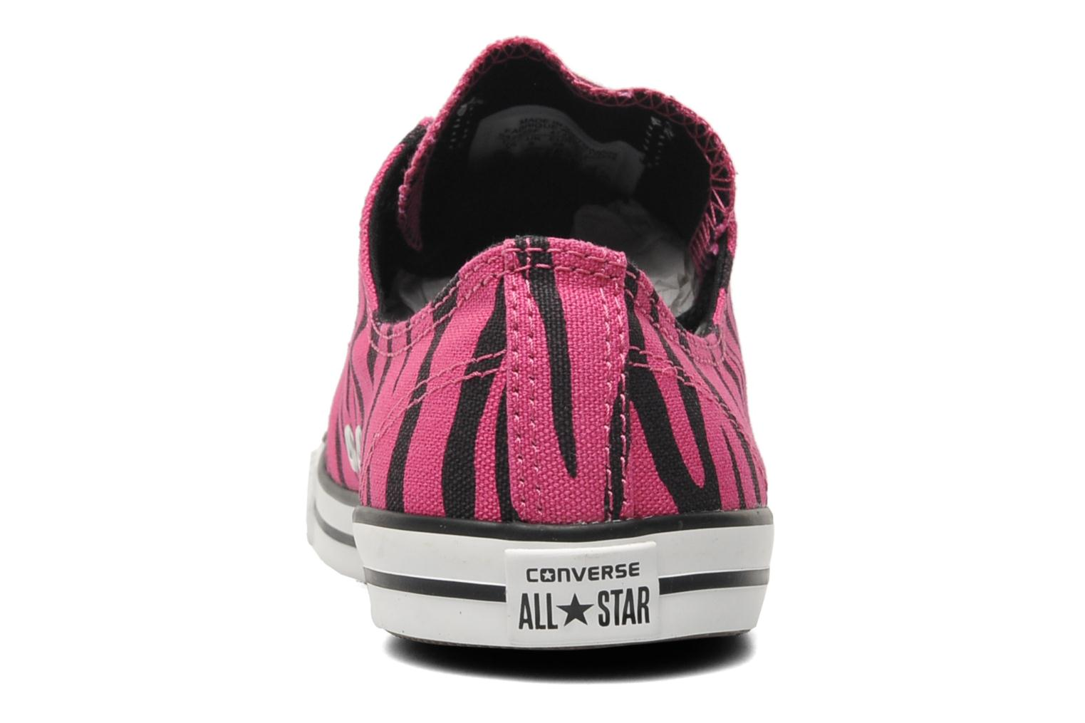 Baskets Converse All Star Dainty Zebra Ox W Rose vue droite