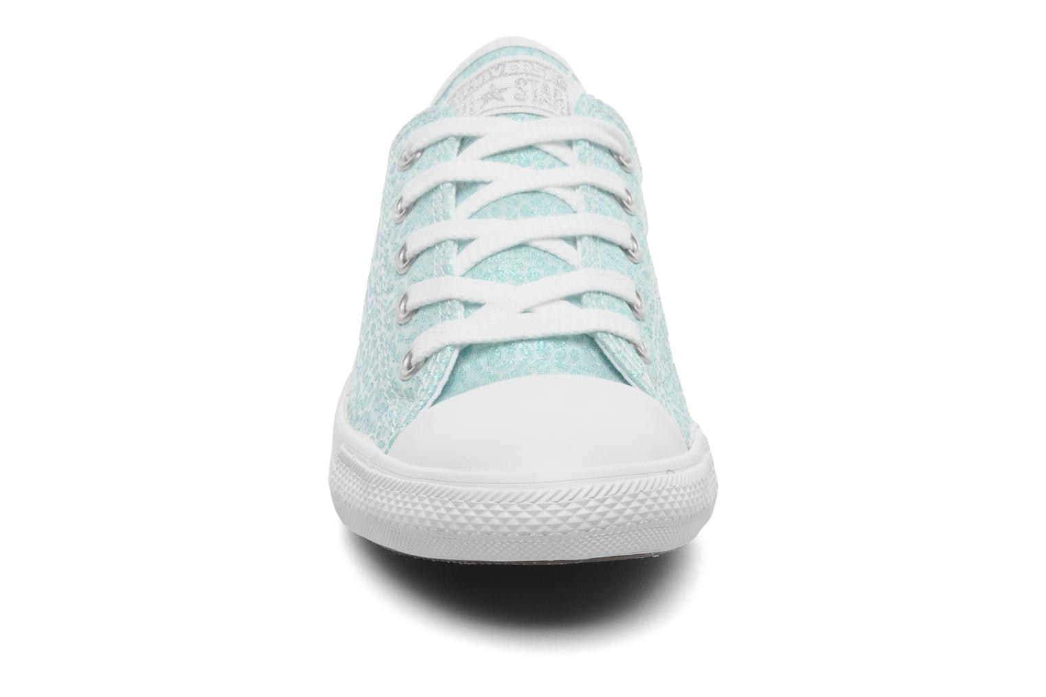 Baskets Converse All Star Dainty Sparkle Ox W Vert vue portées chaussures