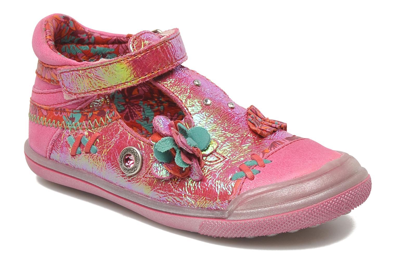 Chaussures à scratch Catimini CHARDON Rose vue détail/paire