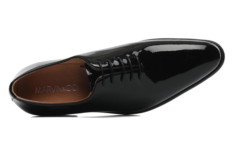 Zapatos con cordones Marvin&Co Luxe Wade Negro vista lateral izquierda