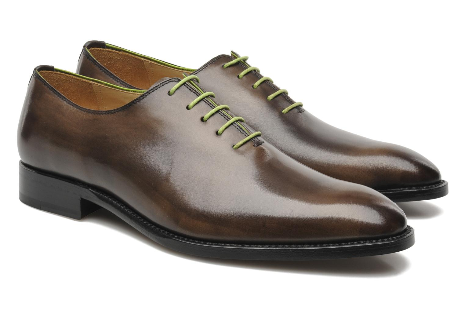 Chaussures à lacets Marvin&Co Luxe Wade - Cousu Goodyear Gris vue 3/4