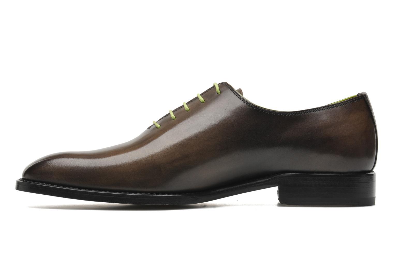 Zapatos con cordones Marvin&Co Luxe Wade - Cousu Goodyear Gris vista de frente