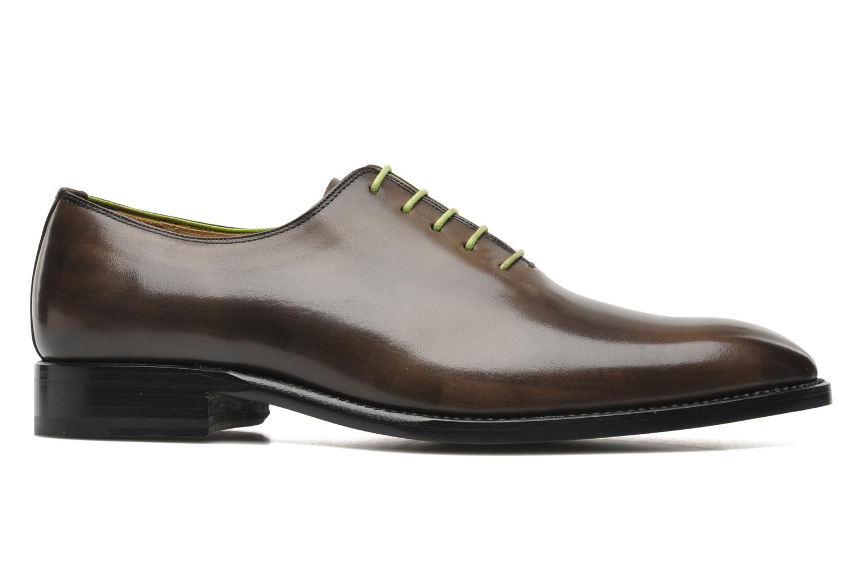 Snörade skor Marvin&Co Luxe Wade - Cousu Goodyear Grå bild från baksidan
