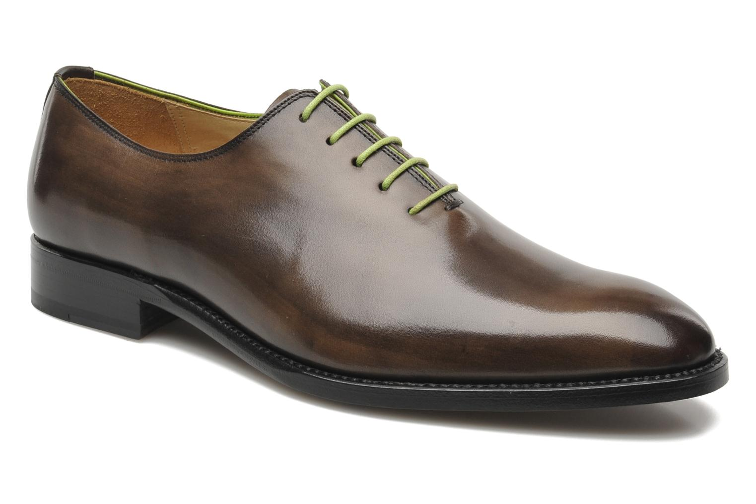 Lace-up shoes Marvin&Co Luxe Wade - Cousu Goodyear Grey detailed view/ Pair view