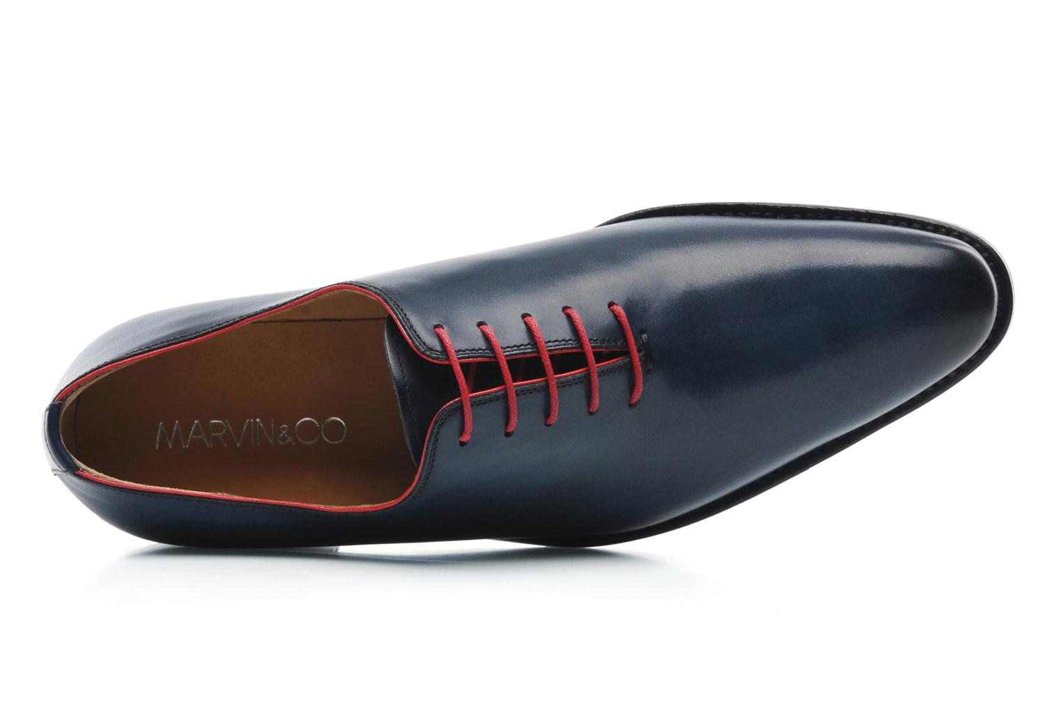 Chaussures à lacets Marvin&Co Luxe Wade - Cousu Goodyear Bleu vue gauche