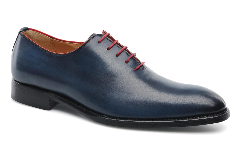 Chaussures à lacets Marvin&Co Luxe Wade - Cousu Goodyear Bleu vue détail/paire