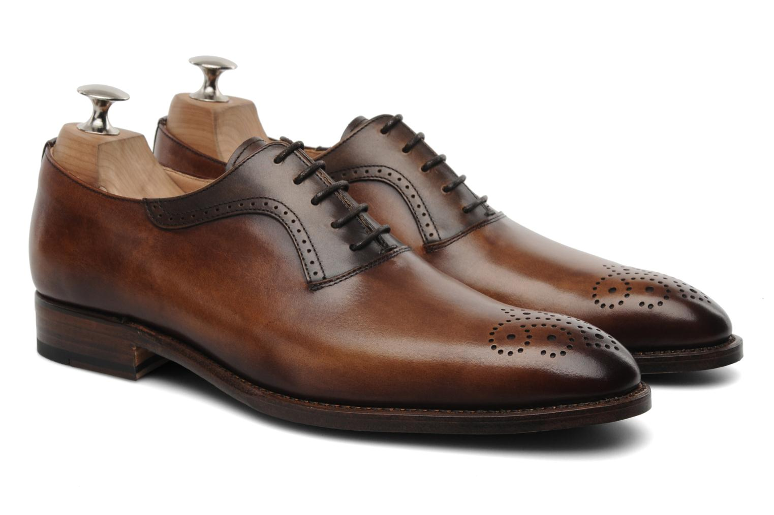 Lace-up shoes Marvin&Co Luxe Walburg - Cousu Goodyear Brown 3/4 view