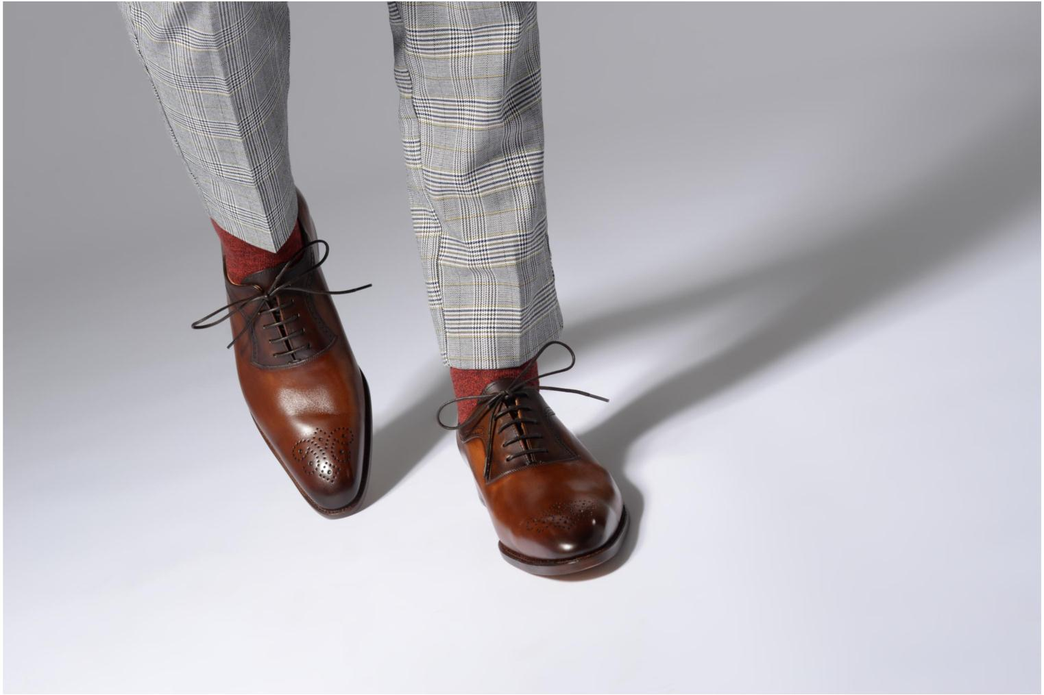 Lace-up shoes Marvin&Co Luxe Walburg - Cousu Goodyear Brown view from underneath / model view