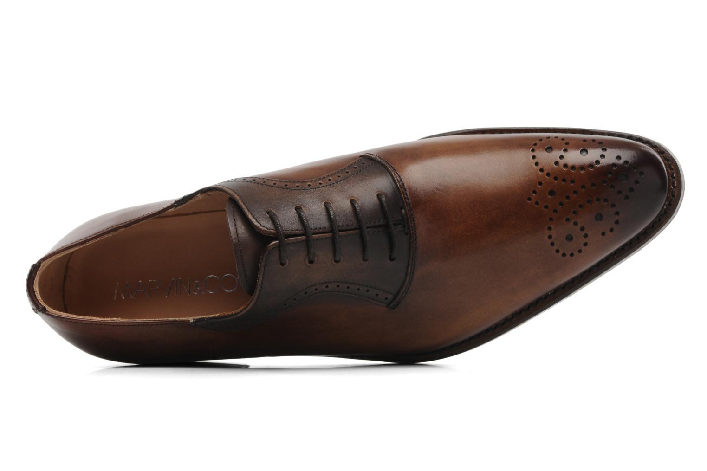 Veterschoenen Marvin&Co Luxe Walburg - Cousu Goodyear Bruin links