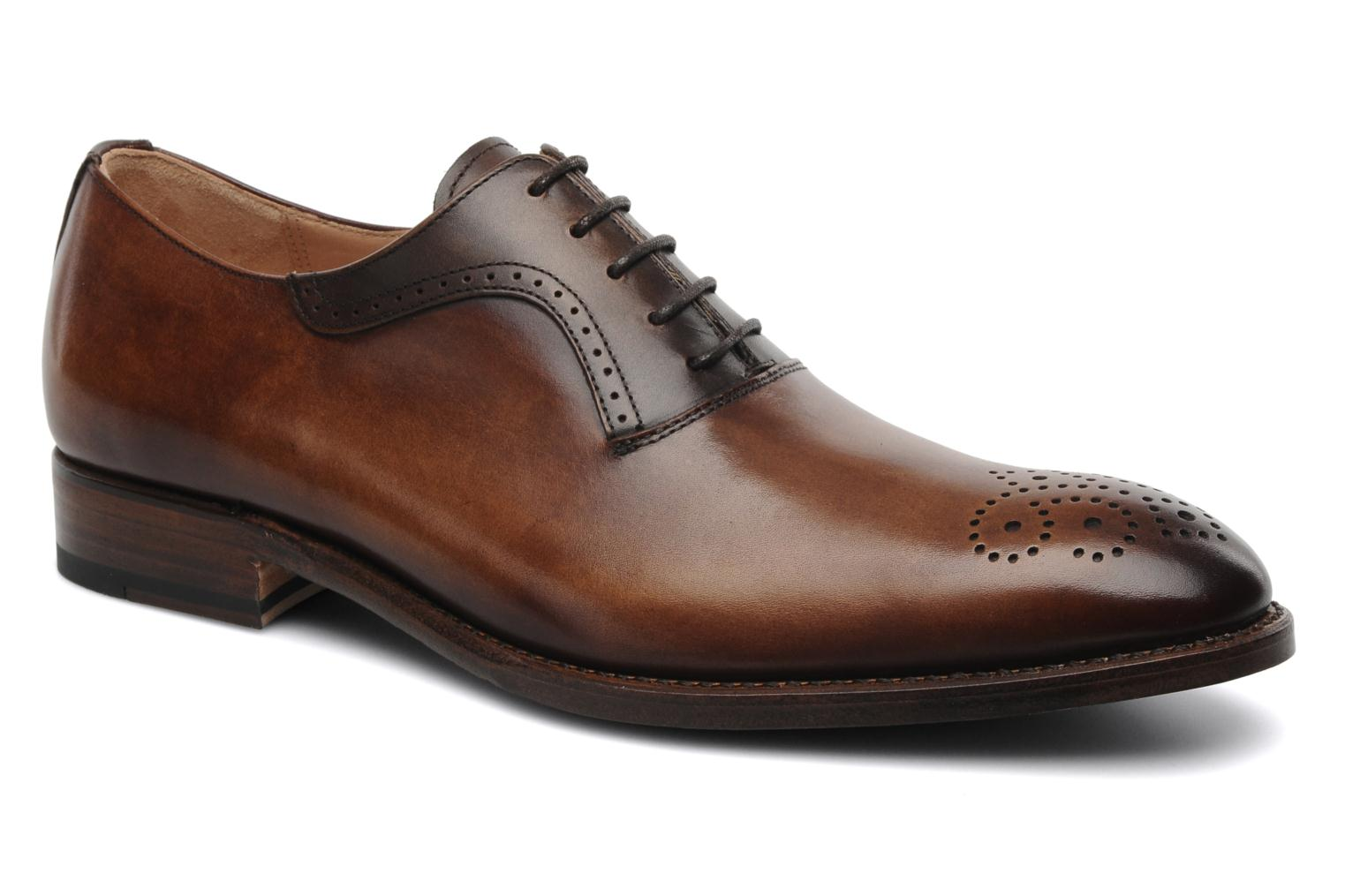 Lace-up shoes Marvin&Co Luxe Walburg - Cousu Goodyear Brown detailed view/ Pair view