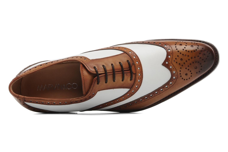 Zapatos con cordones Marvin&Co Luxe Waldemar - Cousu Goodyear Marrón vista lateral izquierda