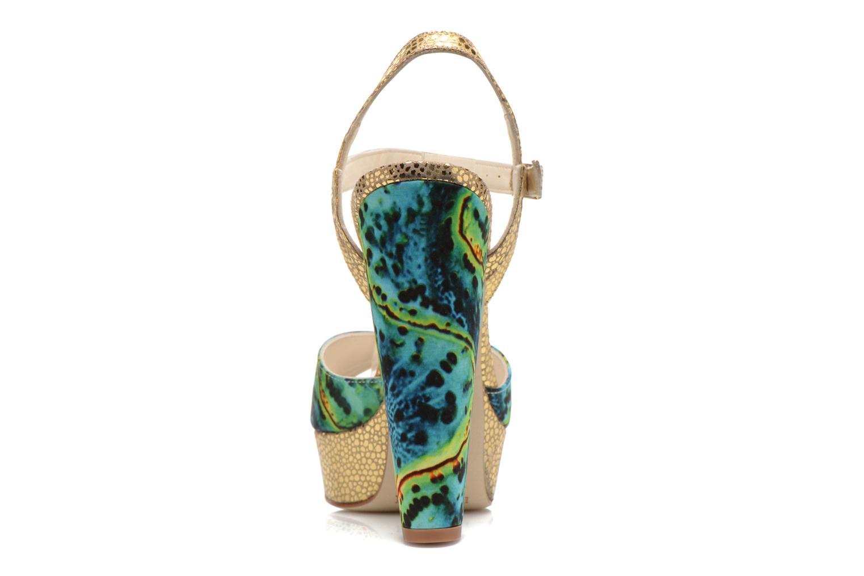 Sandales et nu-pieds Terry de Havilland Coco Vert vue droite