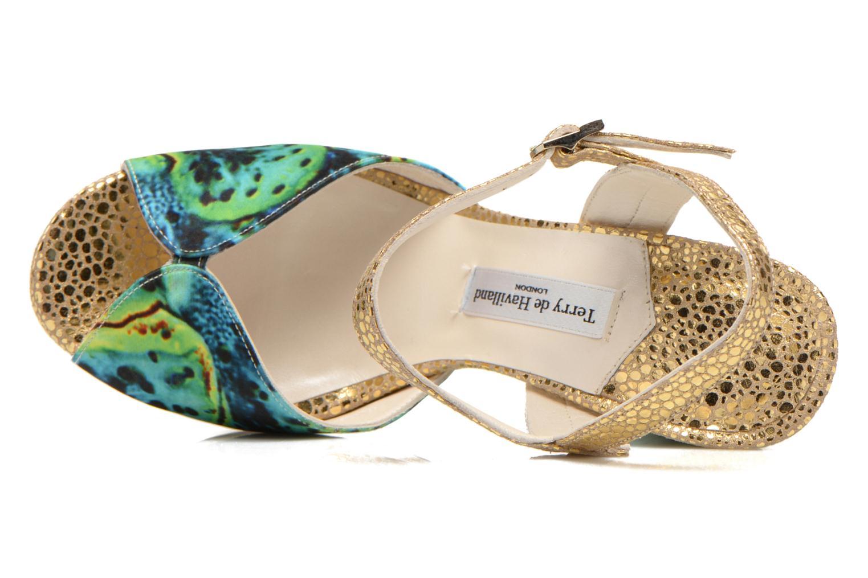 Sandales et nu-pieds Terry de Havilland Coco Vert vue gauche
