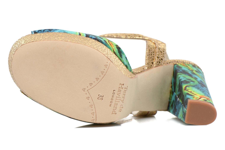 Sandales et nu-pieds Terry de Havilland Coco Vert vue haut