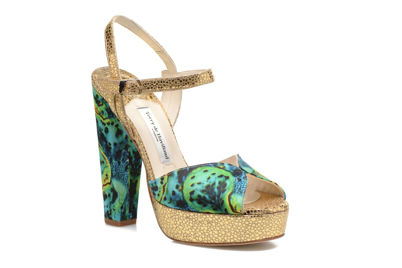 Sandaler Terry de Havilland Coco Grøn detaljeret billede af skoene