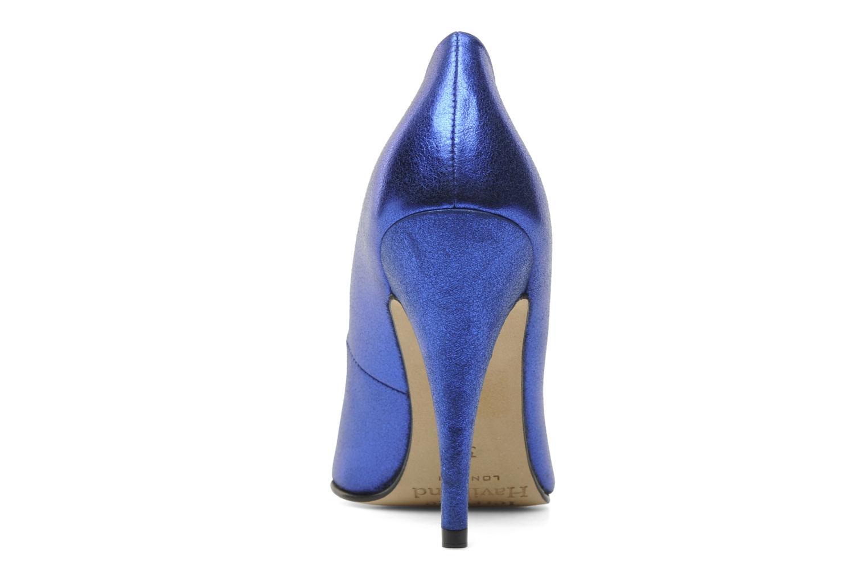 Zapatos de tacón Terry de Havilland Angelina Azul vista lateral derecha