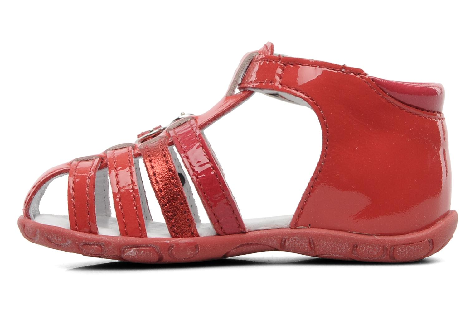 Sandals GBB Gentiane Red front view