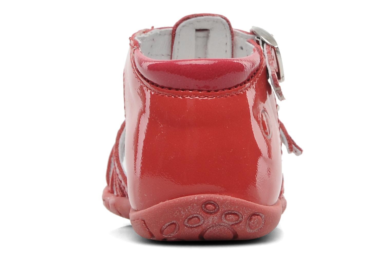 Sandales et nu-pieds GBB Gentiane Rouge vue droite