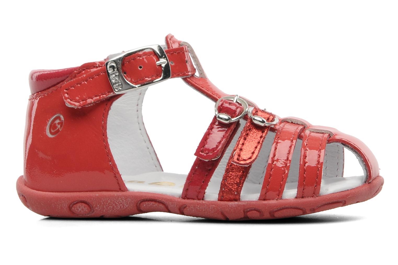 Sandalen GBB Gentiane rot ansicht von hinten