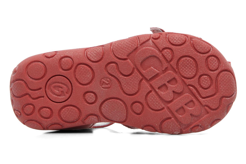 Sandalen GBB Gentiane rot ansicht von oben