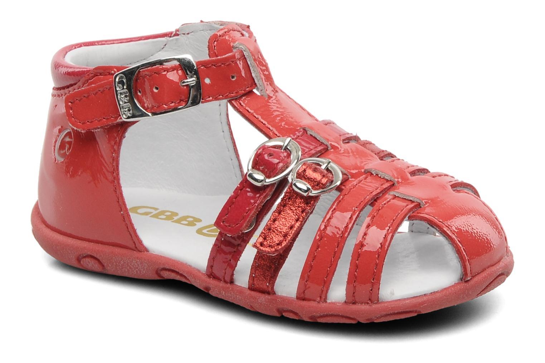 Sandales et nu-pieds GBB Gentiane Rouge vue détail/paire
