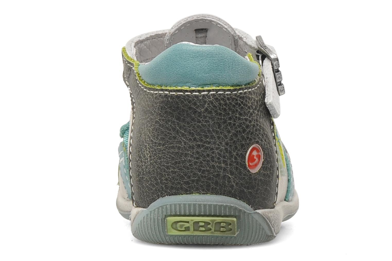 Sandales et nu-pieds GBB GEO Gris vue droite