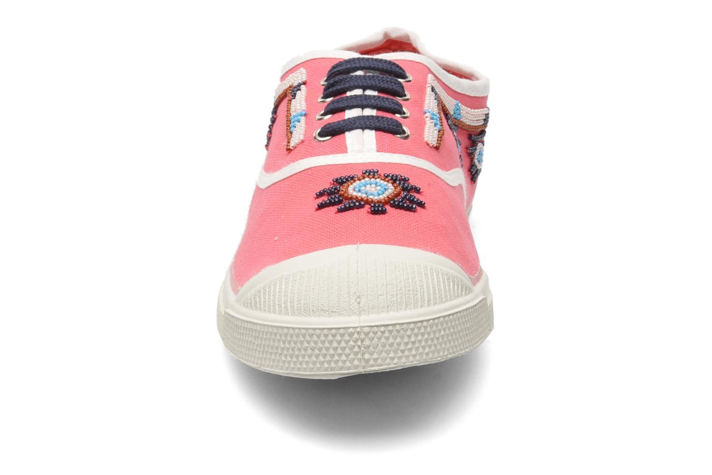 Baskets Bensimon Tennis Irokoa Rose vue portées chaussures