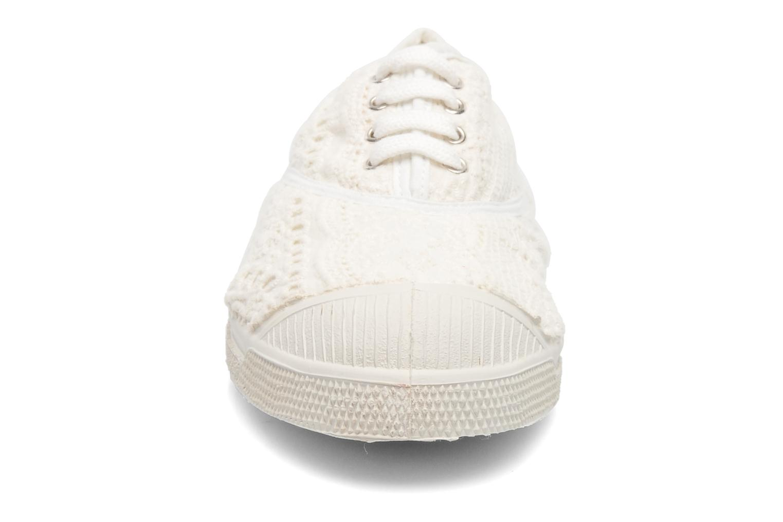 Baskets Bensimon Tennis Broderie Anglaise Blanc vue portées chaussures
