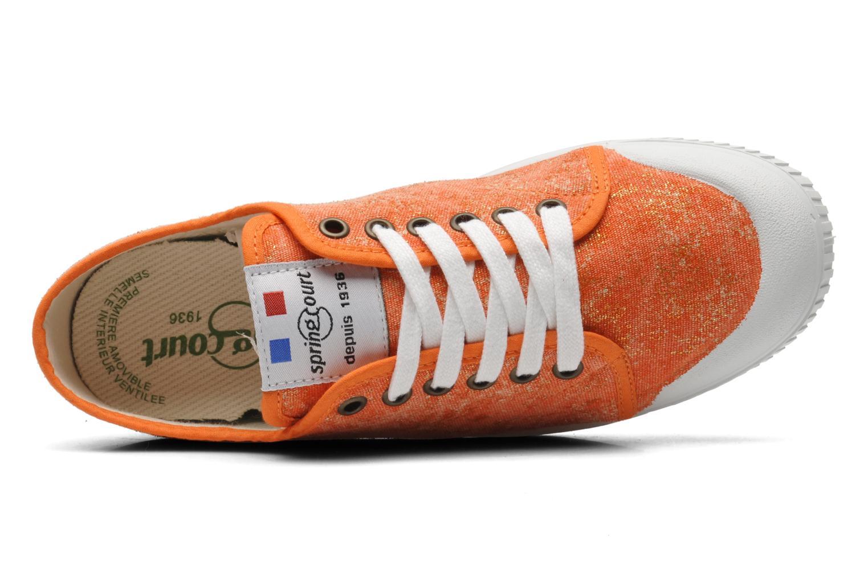 Sneaker Spring Court G2 Goldust W orange ansicht von links