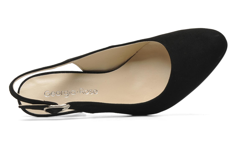 Zapatos de tacón Georgia Rose Valabe Negro vista lateral izquierda