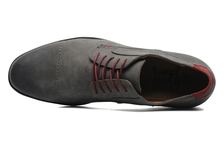 Schnürschuhe I Love Shoes Suréponds grau ansicht von links