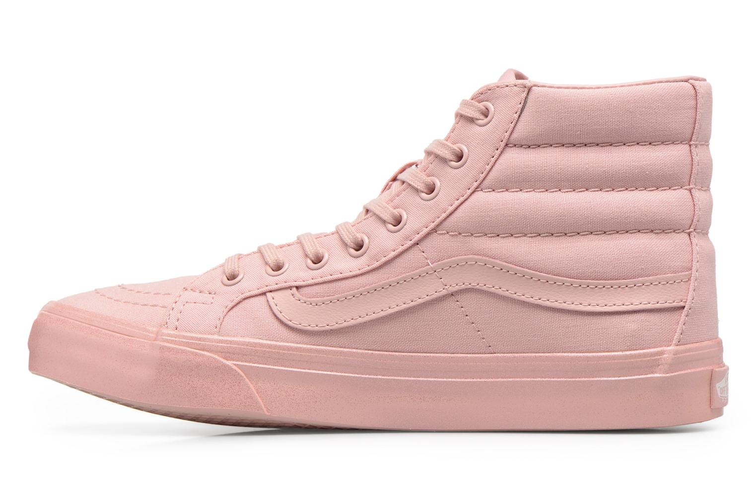 Baskets Vans Sk8-Hi Slim W Rose vue face