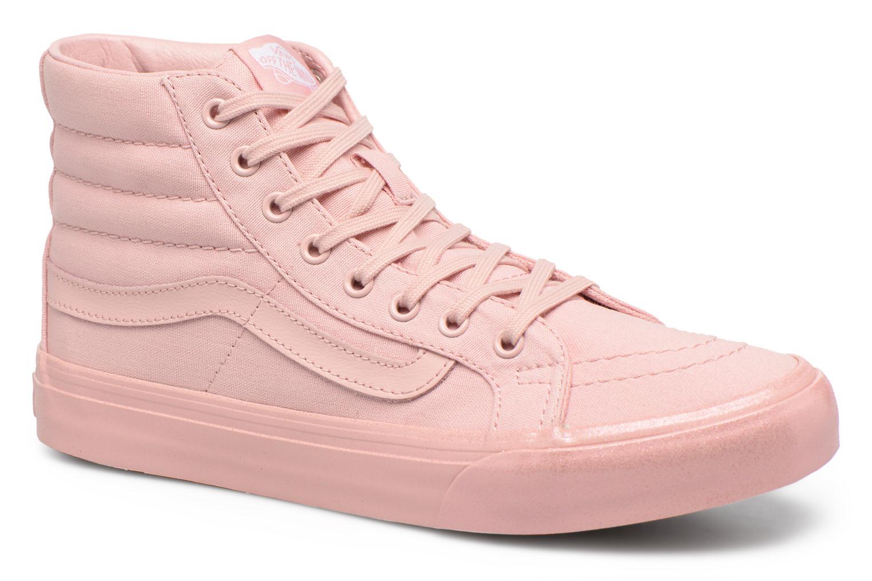 Baskets Vans Sk8-Hi Slim W Rose vue détail/paire