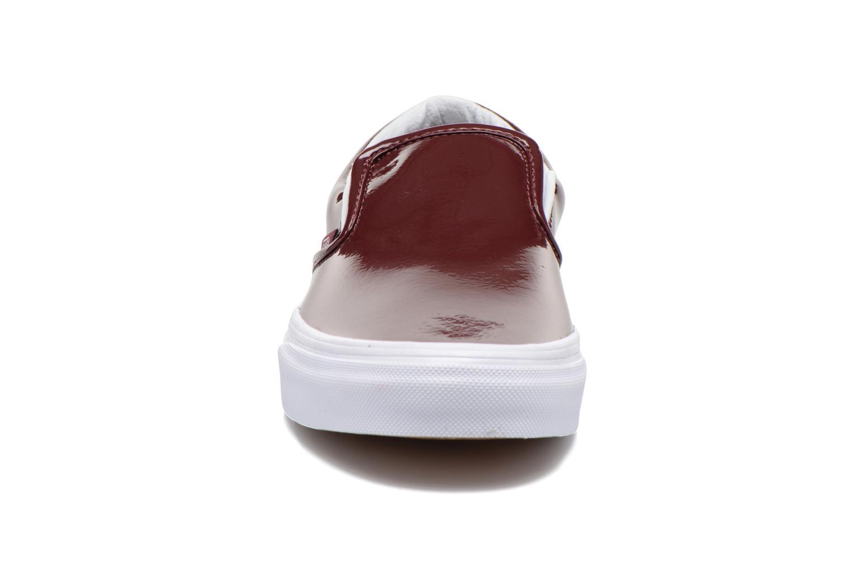 Sneakers Vans Classic Slip-On W Vinröd bild av skorna på
