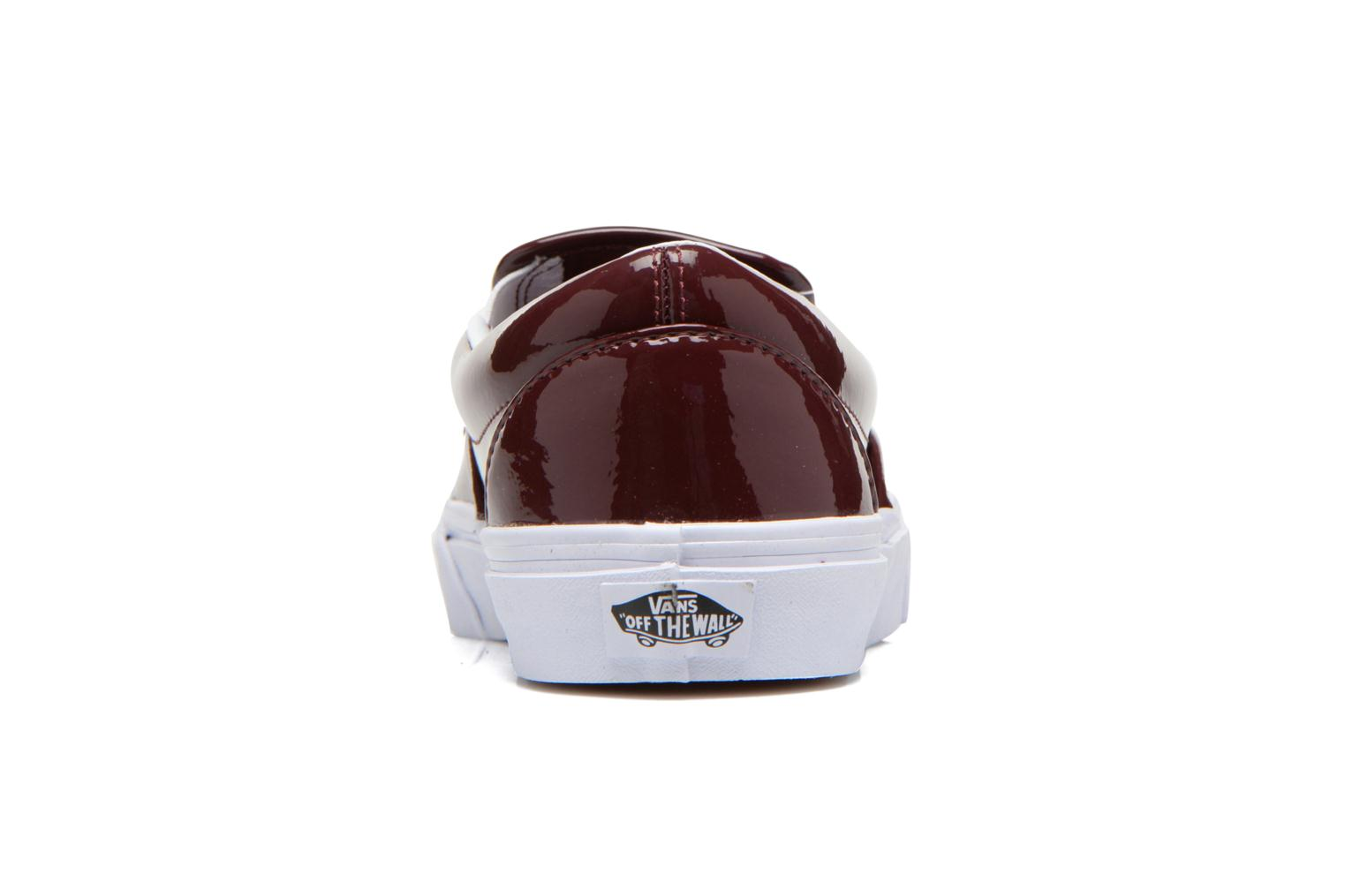 Trainers Vans Classic Slip-On W Burgundy view from the right