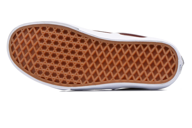 Baskets Vans Classic Slip-On W Bordeaux vue haut
