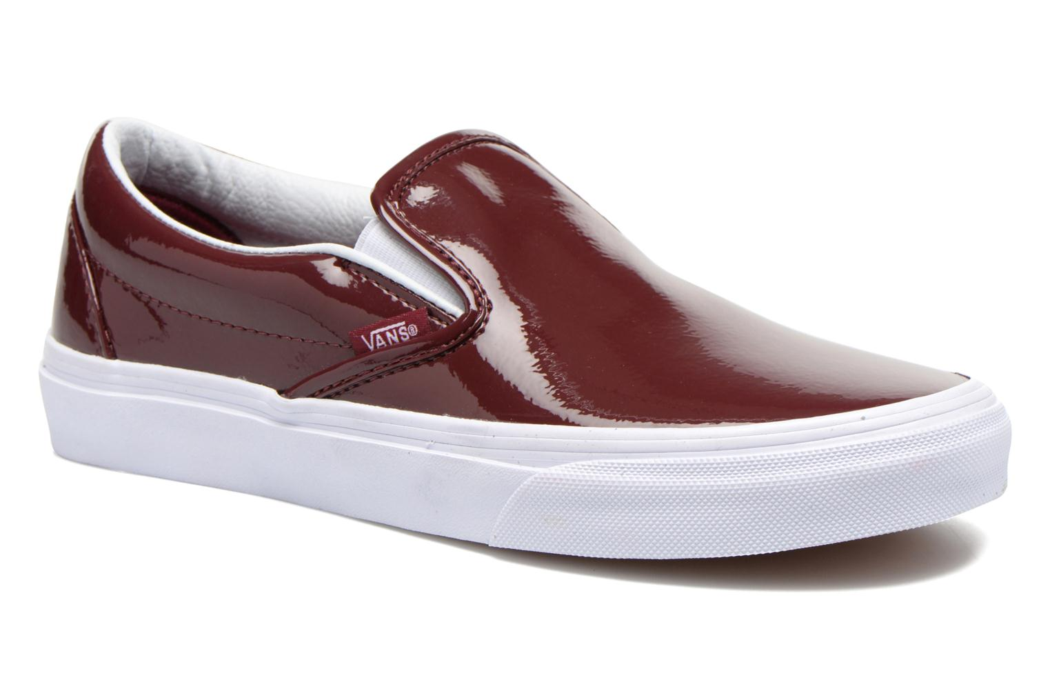 Vans Classic Slip-On W (Bordeaux) - Baskets chez Sarenza (249048)