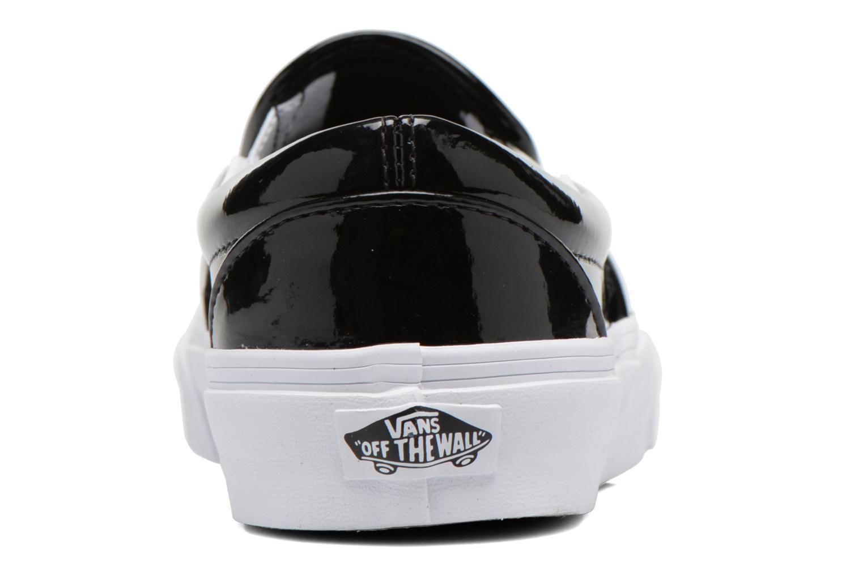 Deportivas Vans Classic Slip-On W Negro vista lateral derecha