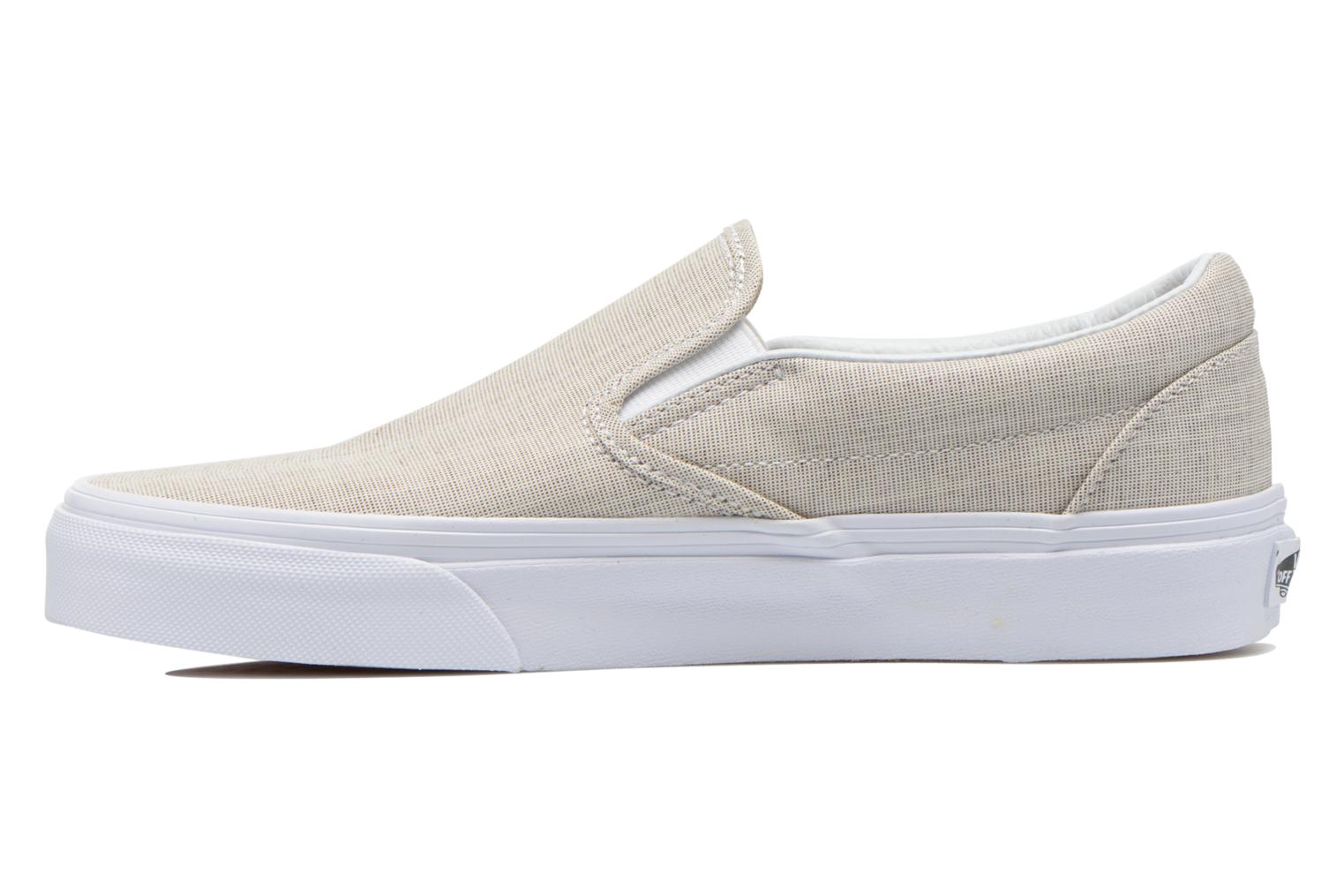 Baskets Vans Classic Slip-On W Beige vue face