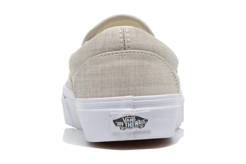Baskets Vans Classic Slip-On W Beige vue droite