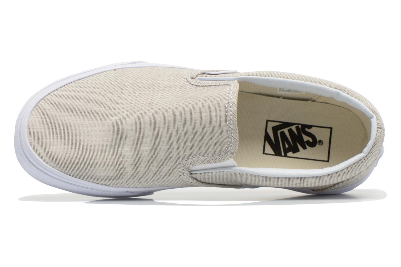 Baskets Vans Classic Slip-On W Beige vue gauche