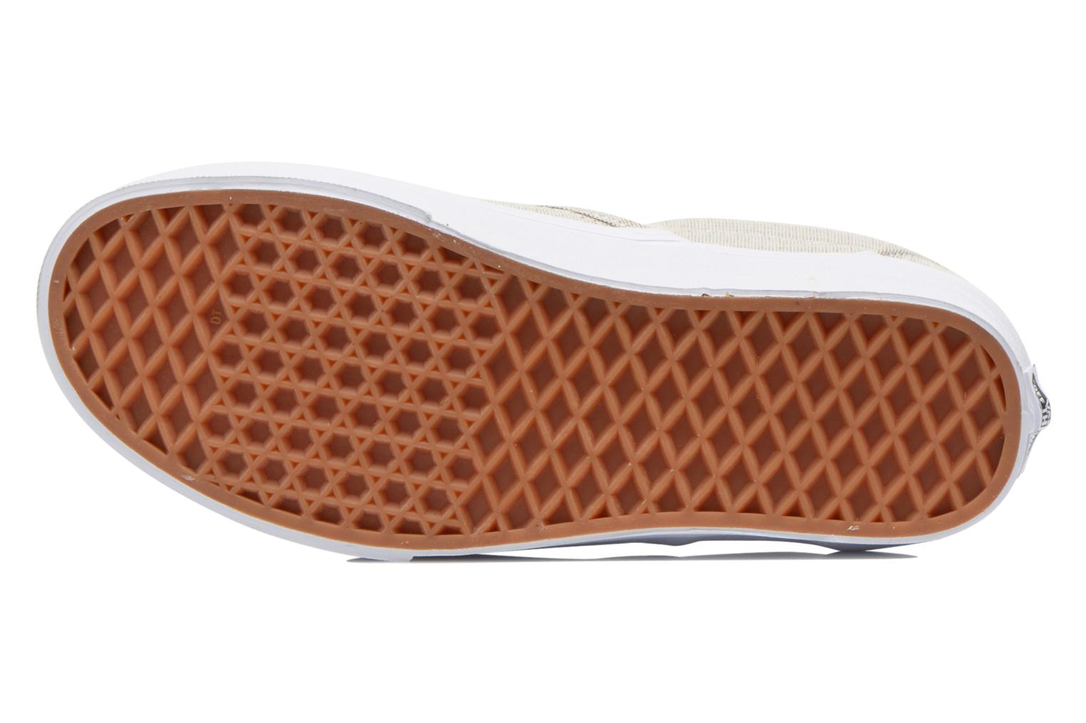 Baskets Vans Classic Slip-On W Beige vue haut