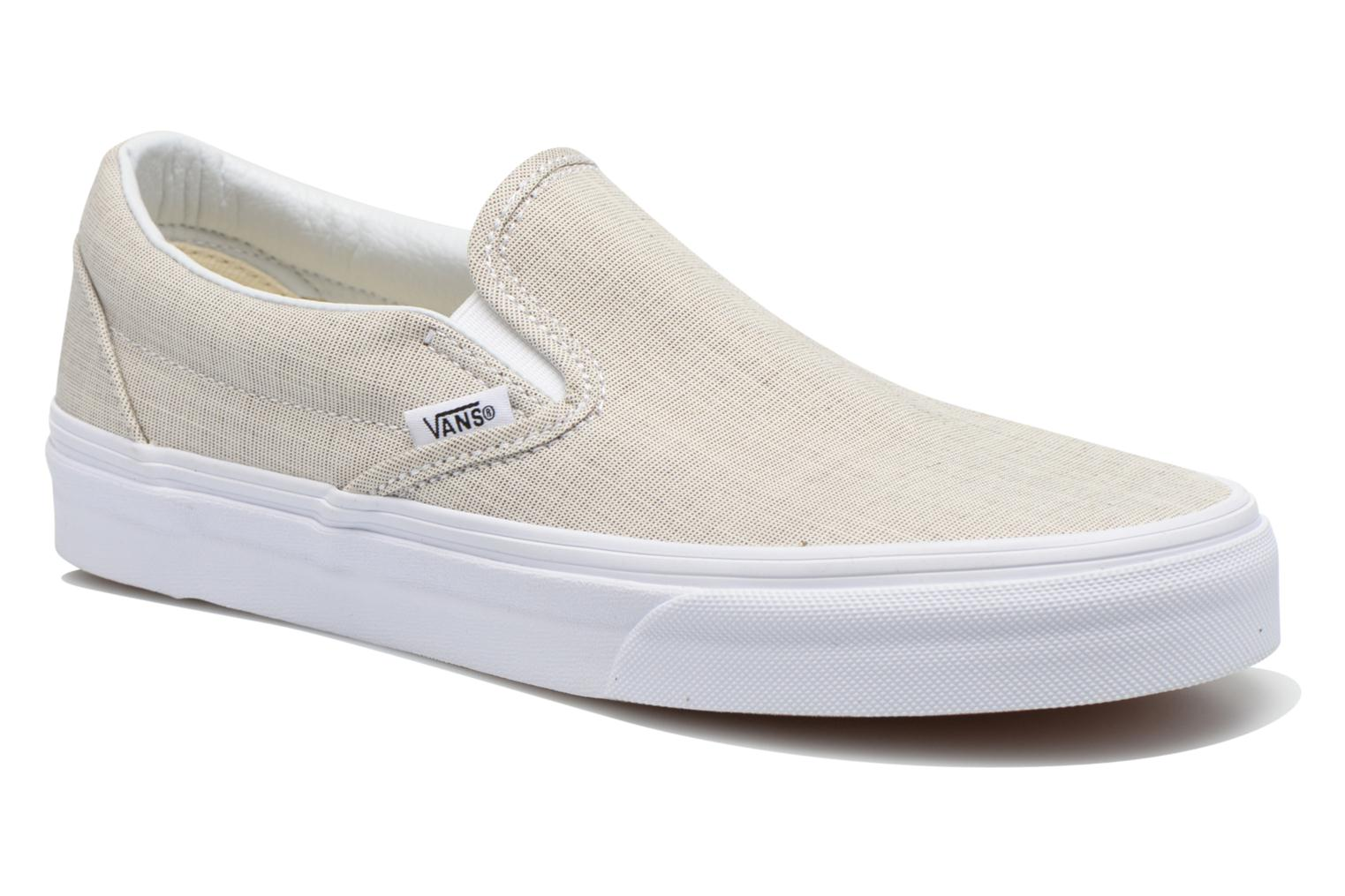 Baskets Vans Classic Slip-On W Beige vue détail/paire