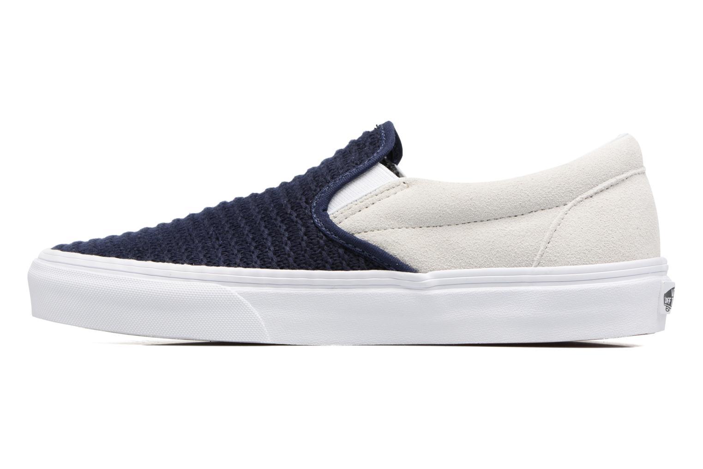 Sneaker Vans Classic Slip-On W blau ansicht von vorne