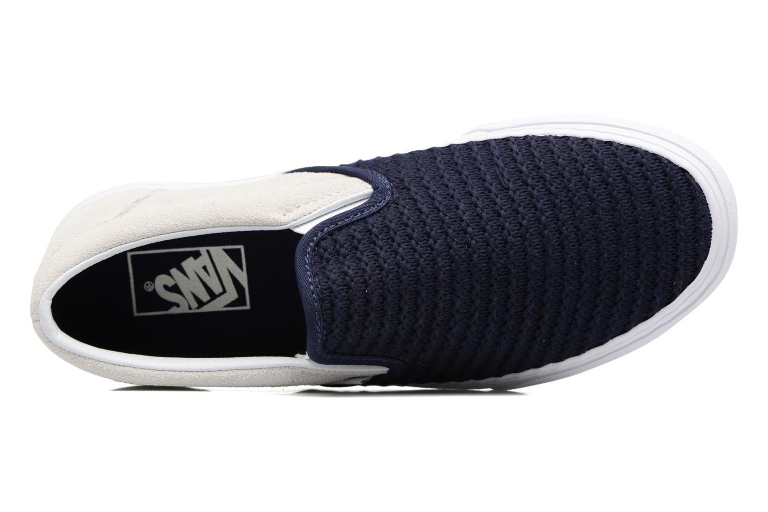 Classic Slip-On W (Suede/Woven) Navy Blue/True White