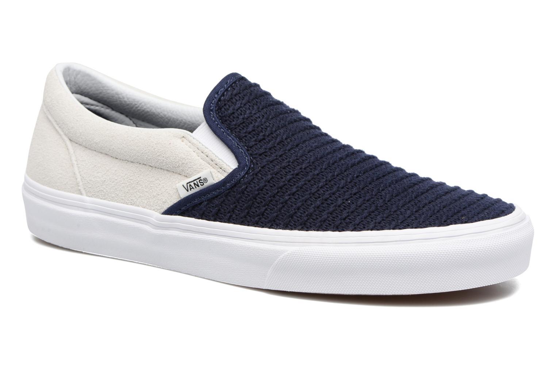 Sneakers Vans Classic Slip-On W Blå detaljerad bild på paret