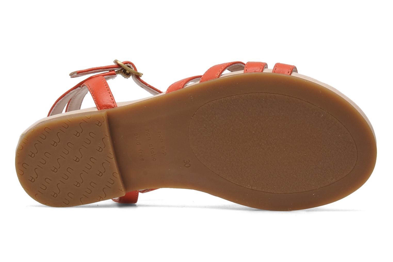 Sandales et nu-pieds Unisa LUPI CP Rose vue haut