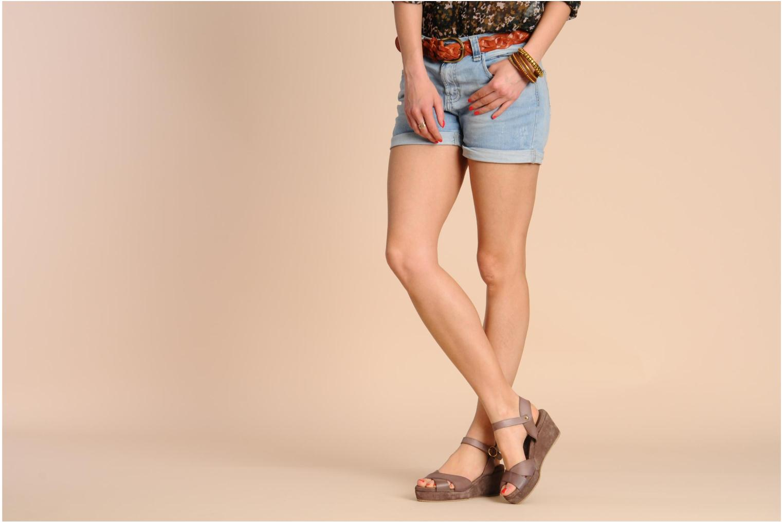 Sandales et nu-pieds Georgia Rose Equidistant CFT Noir vue bas / vue portée sac