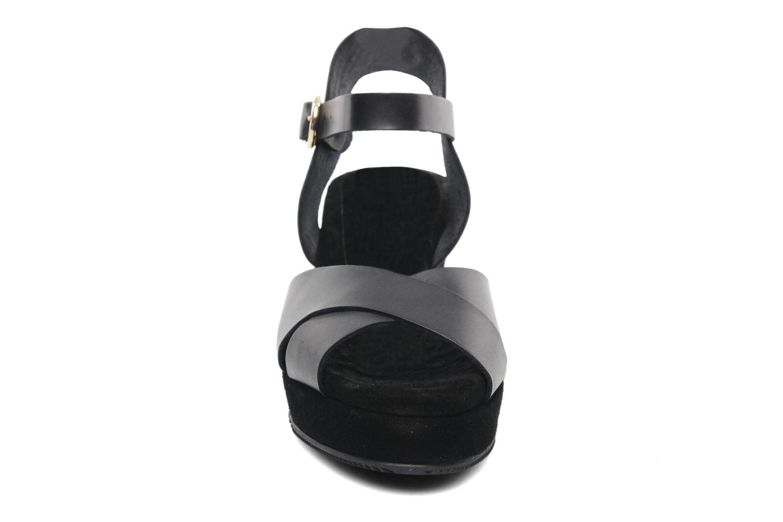 Equidistant CFT Velours negro + vachetta negro